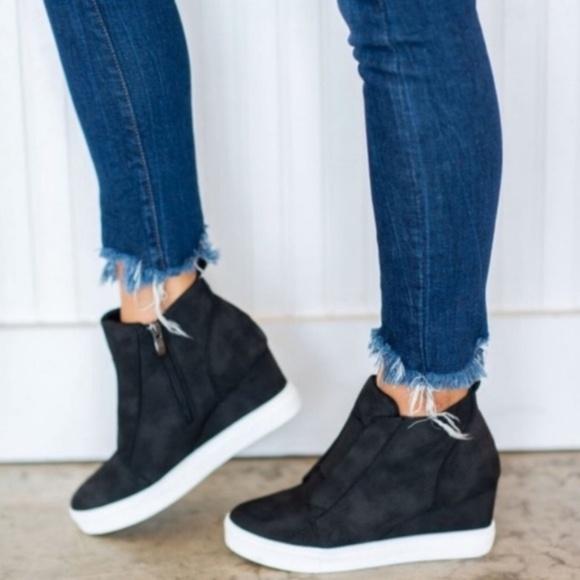 Karlie Perforated Bootie Wedge Sneaker